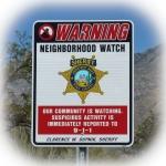 Neighborhood Watch sign © 2015 Guy Scharf