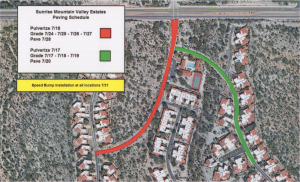 2017 Paving Map - Strada de Acero, pool parking, and mailbox parking will also be repaved