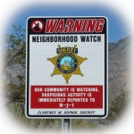 Neighborhood Watch sign © 2015 Guy Scharf
